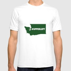#Upperleft Mens Fitted Tee MEDIUM White