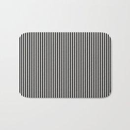Simple Black & White Licorice Cabana Stripe Bath Mat