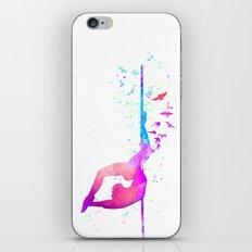 watercolor pole dance 2 iPhone & iPod Skin