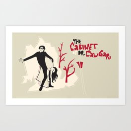 The Cabinet of Dr. Caligari Art Print
