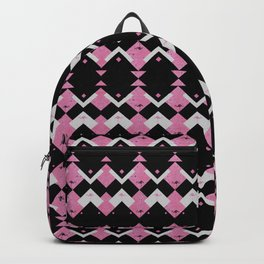Pink Flamingos Art Deco Pattern Backpack