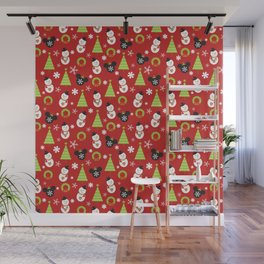 Christmas Mouse Ears Baubles MVMCP Wall Mural