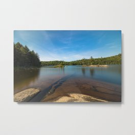 Rock Under Water Photography Metal Print