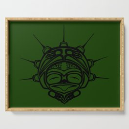 Ink Frog Grass Serving Tray