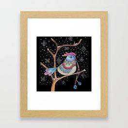 Winter bird Framed Art Print