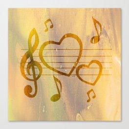 Colorful art Love Music 2 Canvas Print