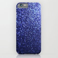 Royal Blue Glitter Sparkles iPhone 6s Slim Case