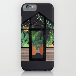 Greenhouse at Night iPhone Case