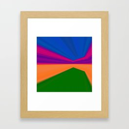 Abstract geometric pattern.Multicolored stripes. iphone texture Framed Art Print