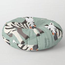 Zebra, African Wildlife Floor Pillow