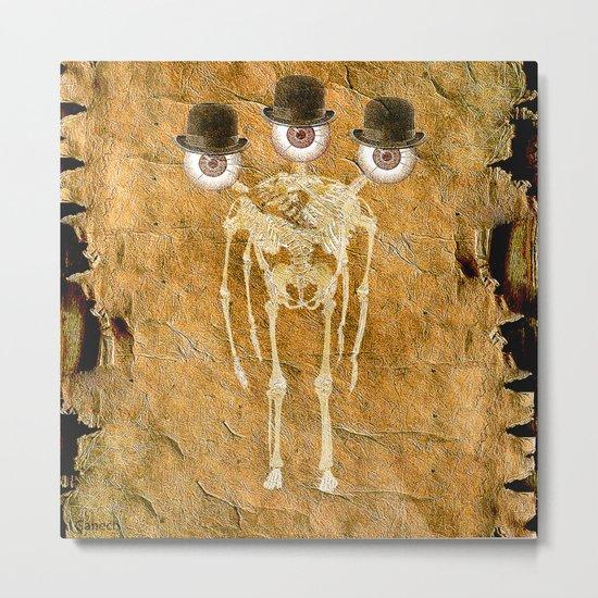 Mutation for Monsieur Bone Metal Print