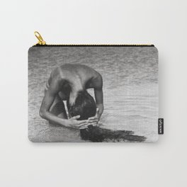Nothing but tan lines, ocean, & beach female form black and white photography Carry-All Pouch