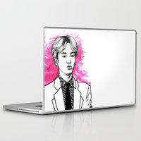 shinee Laptop & iPad Skins featuring Pink SHINee Key Kibum by fabisart