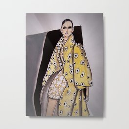 Anna In Floral Spring Haute Couture (Close-Up) By James Thomas Ryan Metal Print