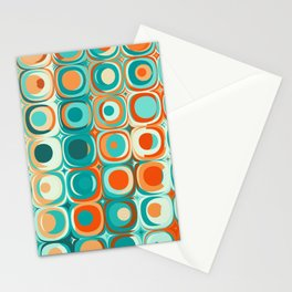 Orange and Turquoise Dots Stationery Cards