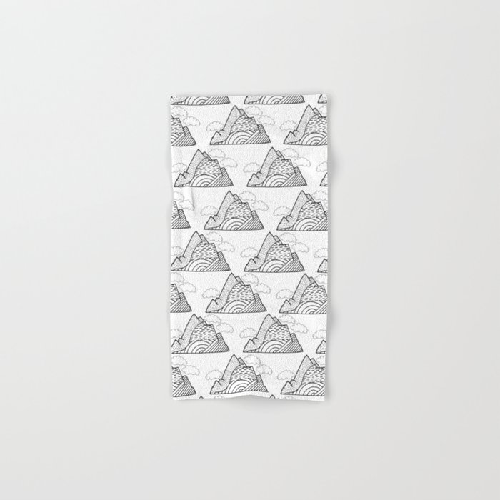 The small clouds and the mountains pattern Hand & Bath Towel