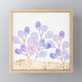 Bonsai Eucalytpus with Metallic Accents Framed Mini Art Print