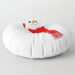 Snowman Floor Pillow