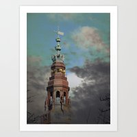 copenhagen Art Prints featuring Copenhagen by Phil Hill