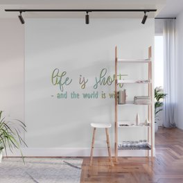 the world is wide - Map Collection Wall Mural