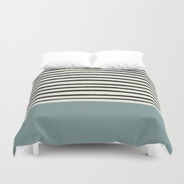 River Stone & Stripes Duvet Cover
