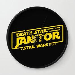 Death Star Janitor Wall Clock