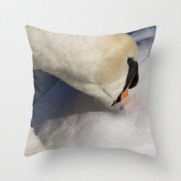 The Quiet Swan Throw Pillow