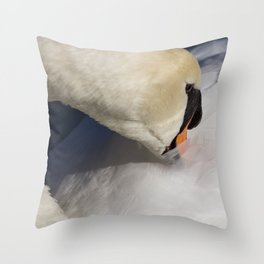 The Quiet Swan Throw Pillow