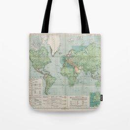 Flemmings Kriegskarten / Flemming's War Maps (1917) - 037 Map of the World, 1917 Tote Bag