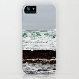 Green Wave Breaking iPhone Case