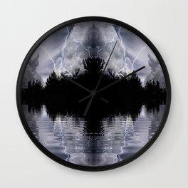 Dark Island Storm Wall Clock