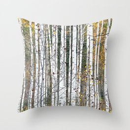 Aspensary forests Throw Pillow