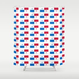 flag of panama 2 -Panama,Panamanian,canal,spanish,San Miguelito,Tocumen,latine,central america,panam Shower Curtain