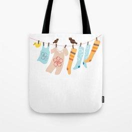 Clothes Line Tote Bag