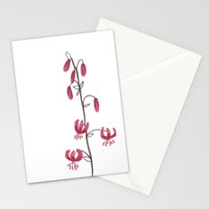 Lillium Martagon Red Flower Stationery Cards