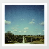 Iowa Road Art Print