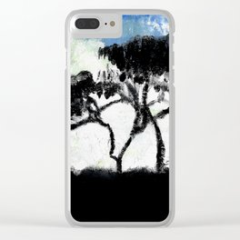 Shadow of Tree Clear iPhone Case