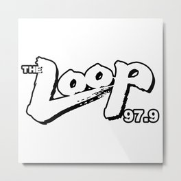 The Loop Metal Print