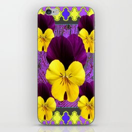 Yellow-Purple Violas Pattern Art iPhone Skin