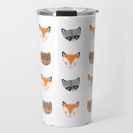 Woodland Creatures Pattern Travel Mug