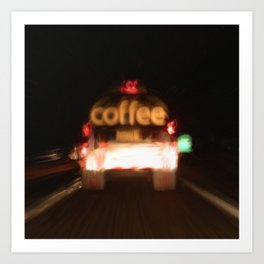 C - Coffee Tanker Art Print