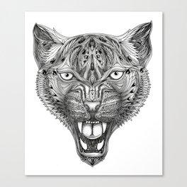 Ornament Cheetah Canvas Print