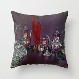 Still and red Glass Throw Pillow