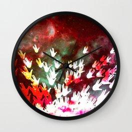 H.E.L.L.O. / red Wall Clock