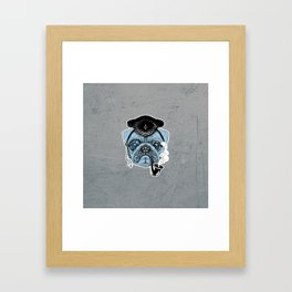 Sailor Pug Framed Art Print