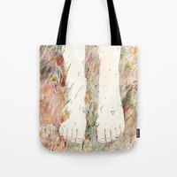 perfume Tote Bags featuring Perfume #3 by Dao Linh