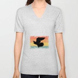 Vintage Falcon Wild Animal Bird Gift Idea Unisex V-Neck