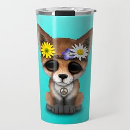Cute Baby Fox Hippie Travel Mug