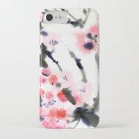 sakura iPhone & iPod Cases featuring Sakura by Nina