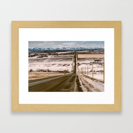 Road to the mountains Framed Art Print